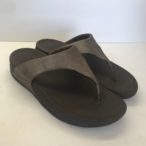 84db633479d2bb Fitflop Shoes - Fitflop LuLu Size Shimmer Sandal Brown Leather